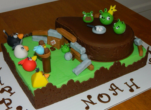 Angry Birds Birthday Cake01