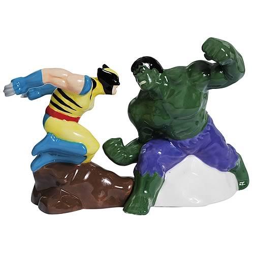 Marvel Incredible Hulk vs. Wolverine Salt and Pepper Set