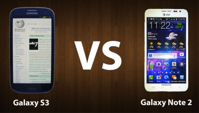 Samsung Galaxy S III VS Samsung Galaxy Note 2