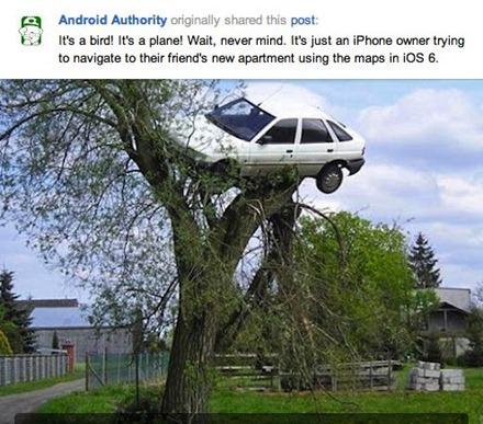 iOS 6 Maps Jokes