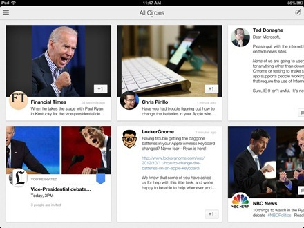 Google+ iPad app