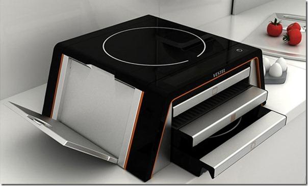 Future technology Concept multipurpose kitchen gadget
