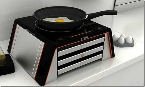 Future technology Concept multipurpose kitchen gadget